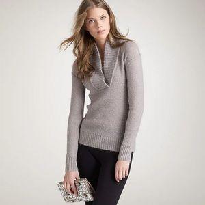 JCREW dolce shawl collar popover sweater M